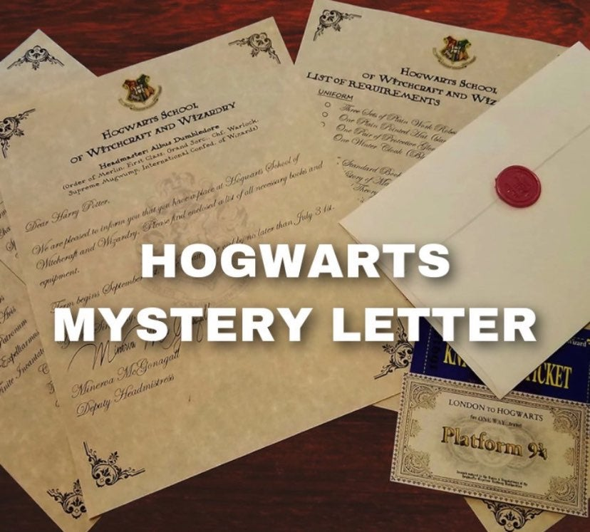 harry potter mystery letter !