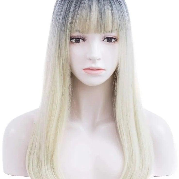 "Long Straight Wigs for Women, 22"" Blonde"