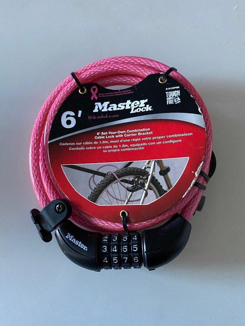 MasterLock 8161DPNK Combo Cable Bike Loc