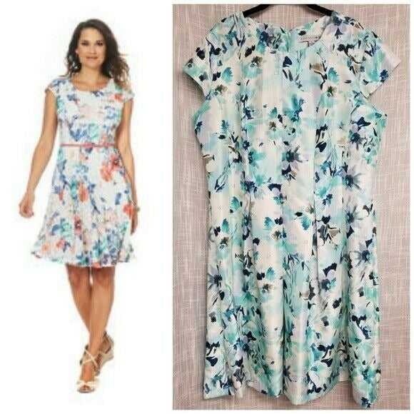 Floral Midi Dress Madison Leigh Blue