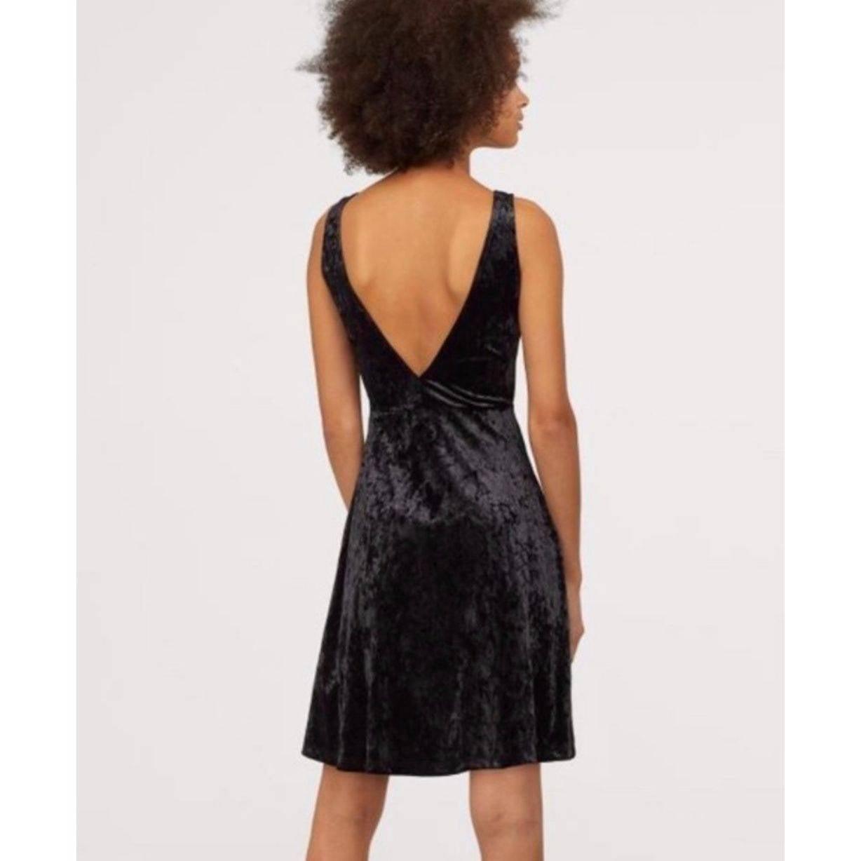 H & M Divided Crushed Velvet  Dress