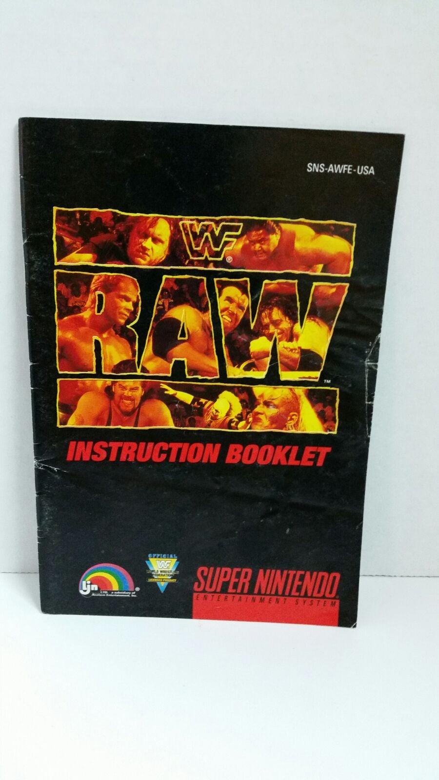 WWF Raw Instruction Manual
