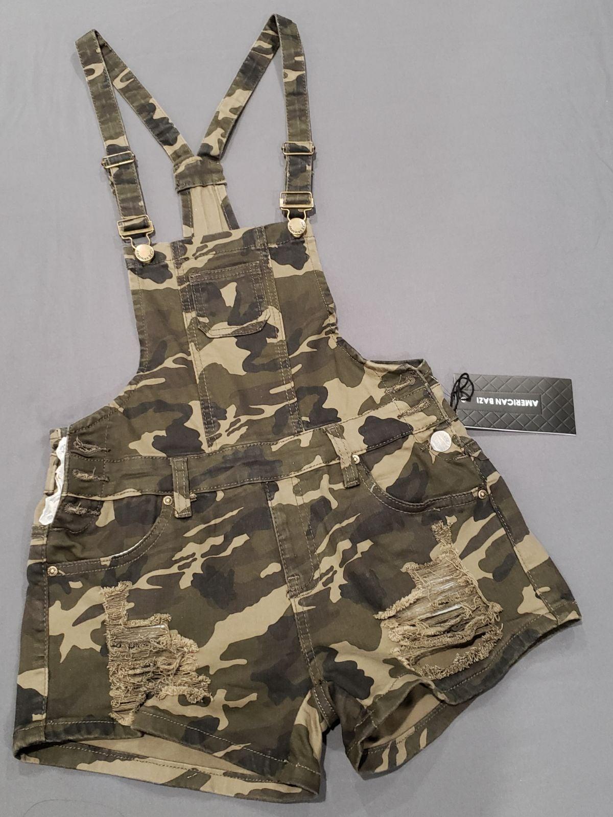 Camo overall shorts ( Brand New )