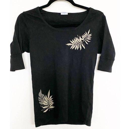 Rainforest Iki Black Rib Knit Shirt