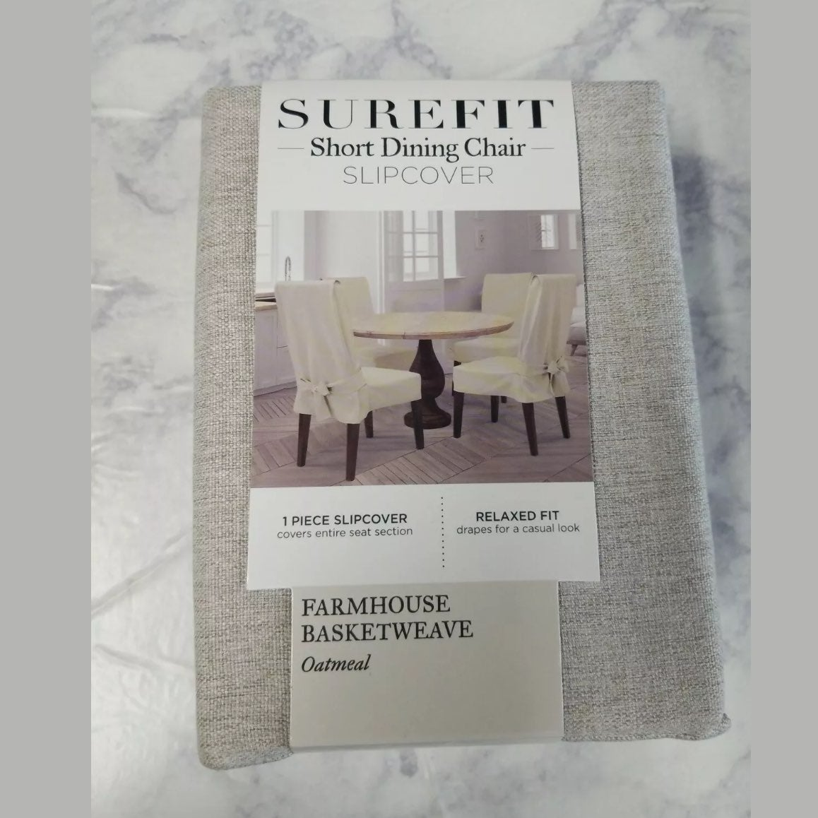 Surefit Short Dining Chair Slipcover New