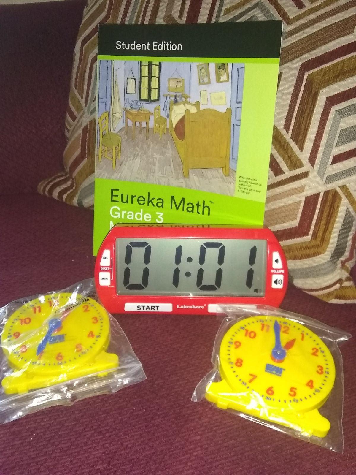 Lakeshore Jumbo Classroom Timer Clock Se