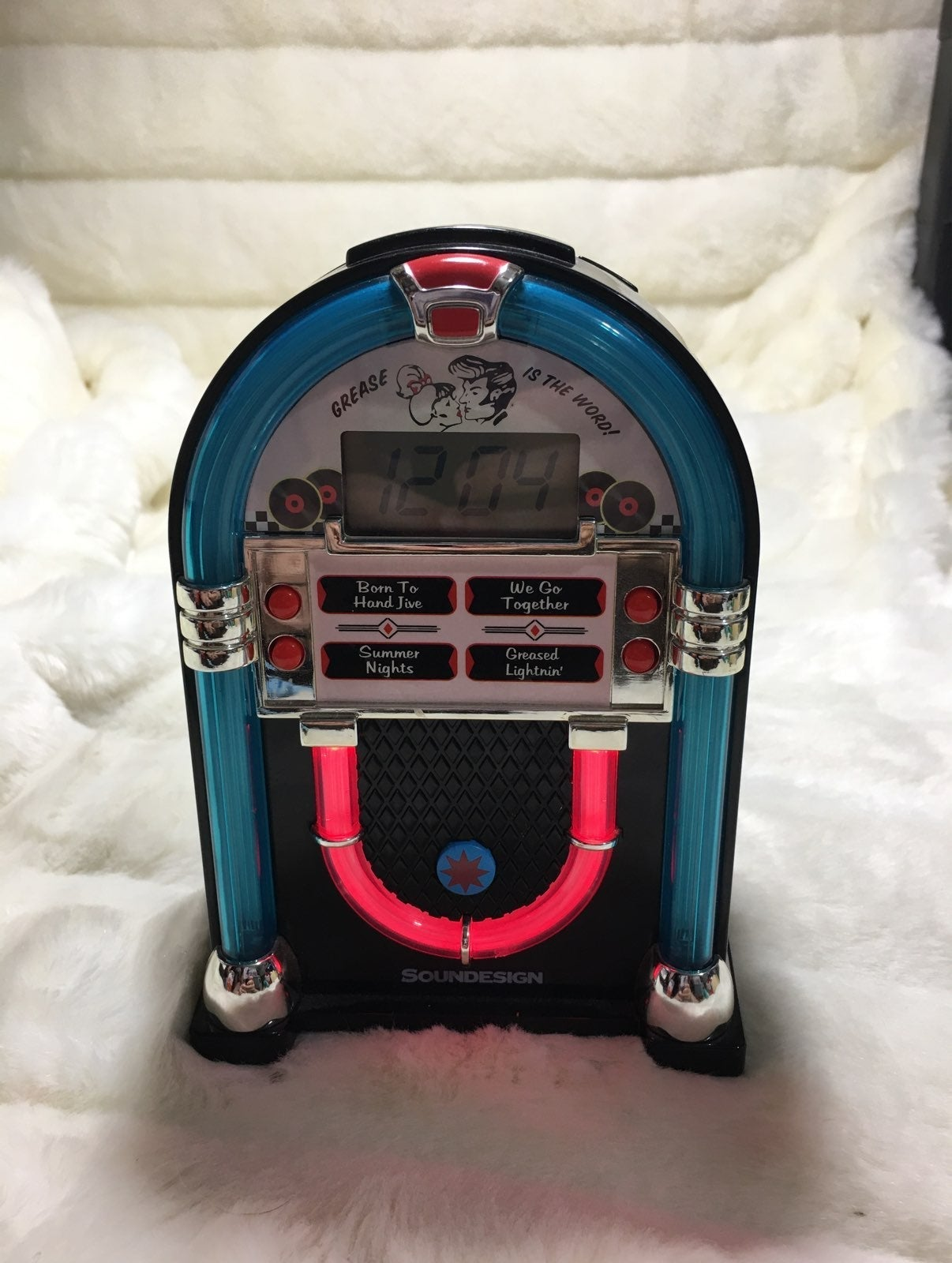 SOUND DESIGN JUKEBOX ALARM CLOCK  Model