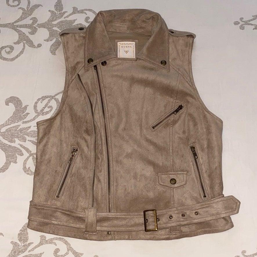 Guess faux suede vest