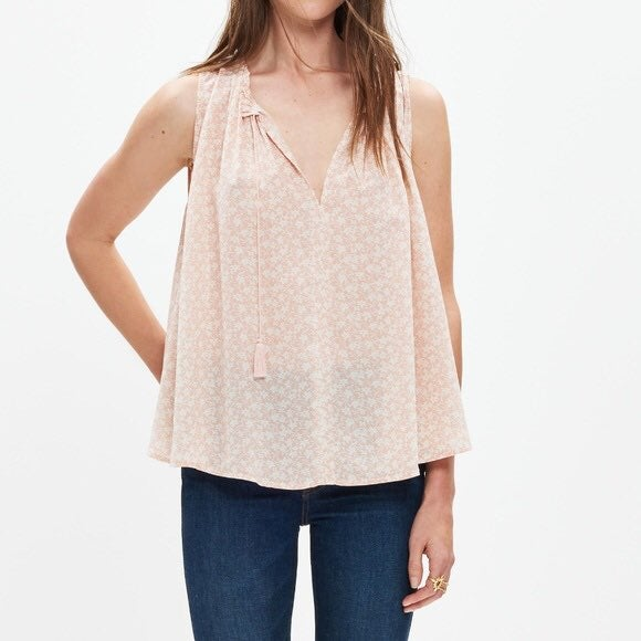 Madewell Silk Bellshift Nightlily Tank