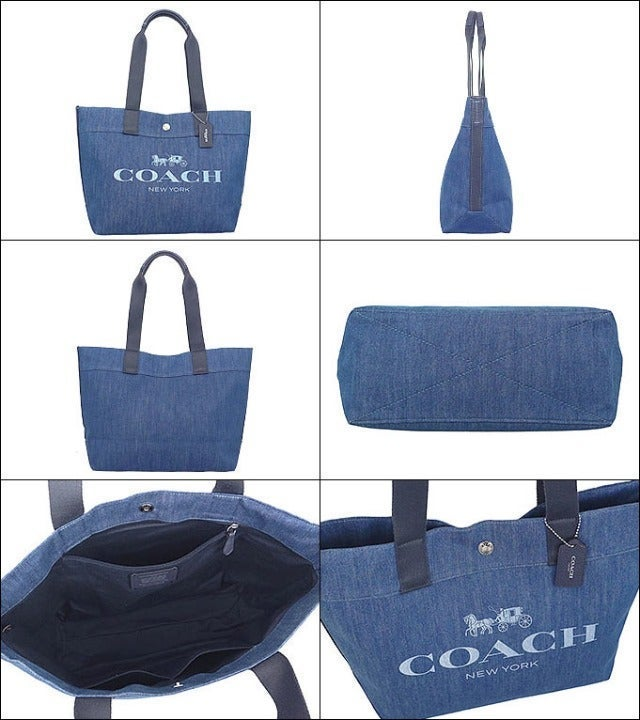Coach DENIM TOTE WITH HORSE AND CARRIAGE
