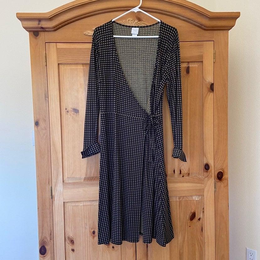 Garnet hill wrap dress size 8