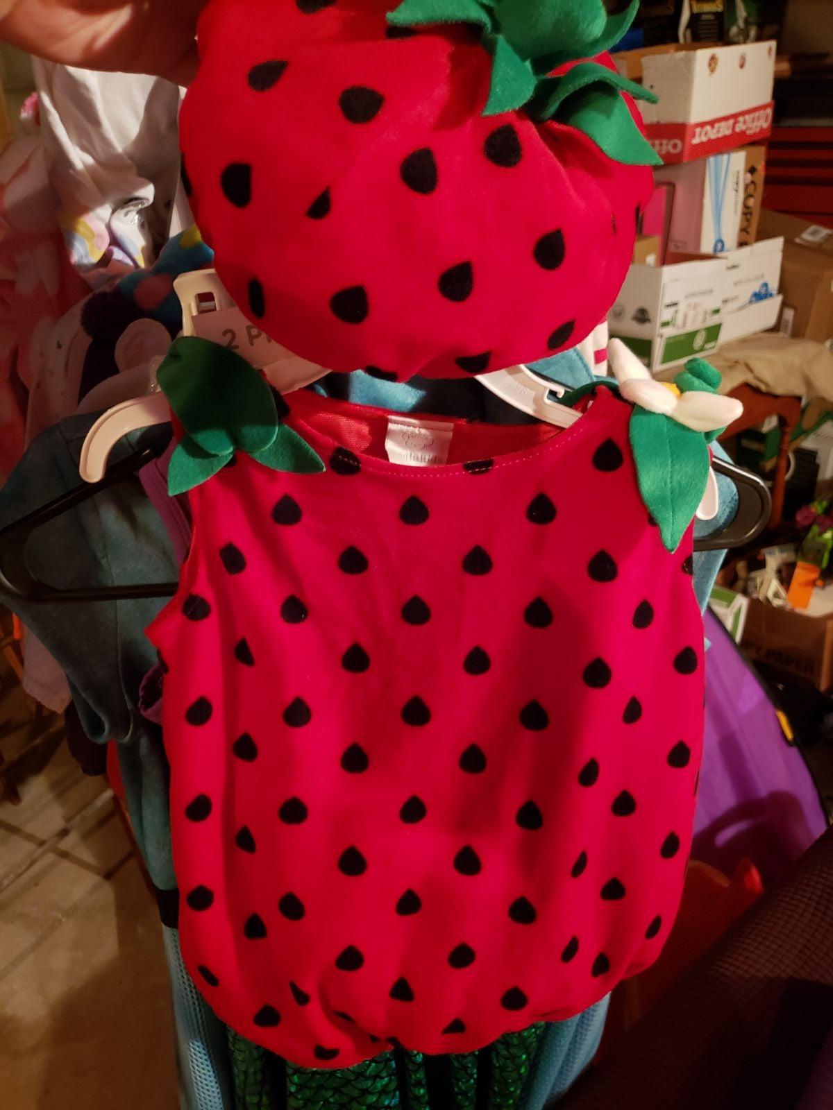 Infant strawberry costume