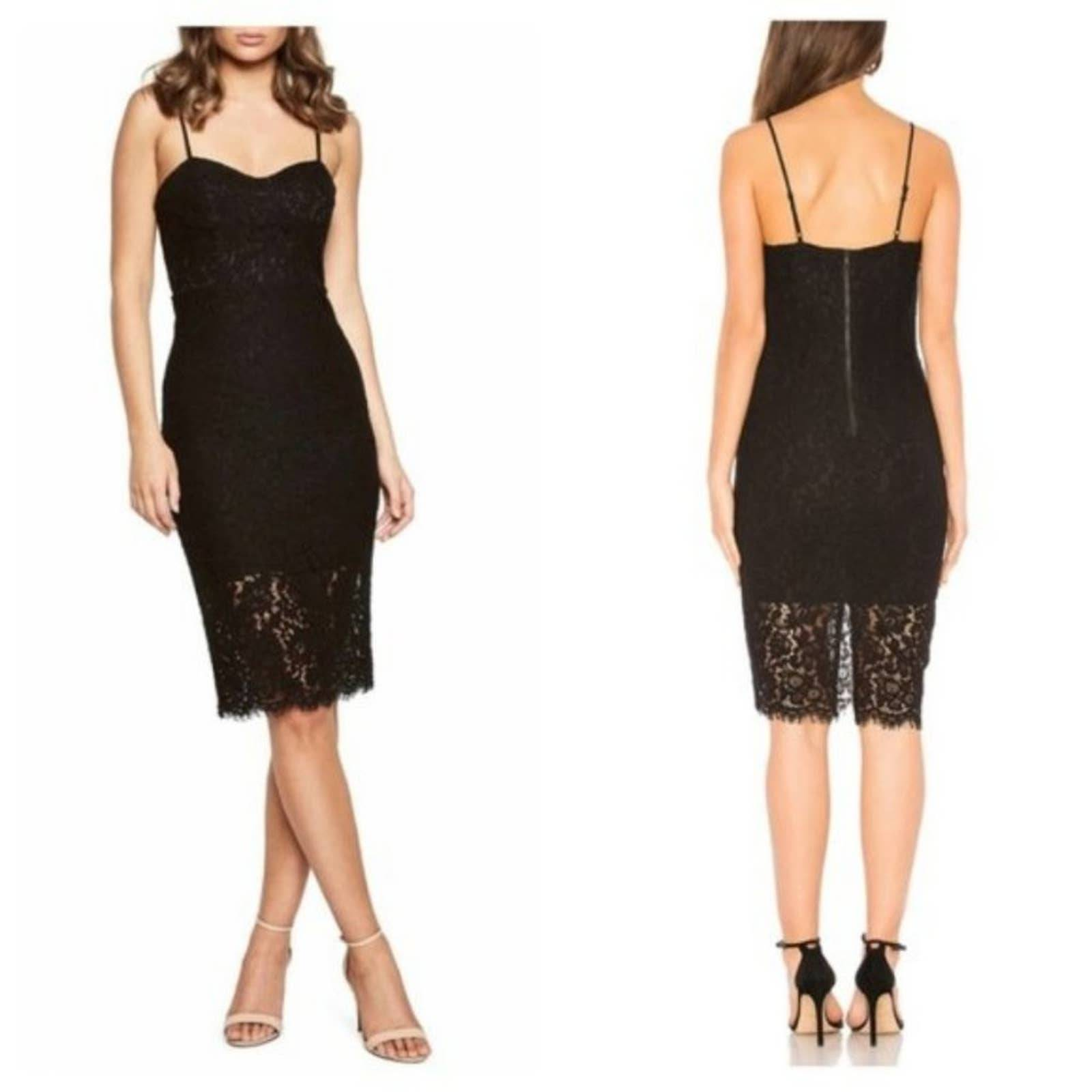 Bardot Open Back Lace Cocktail Dress