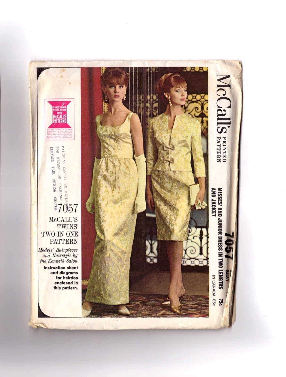 Vintage 1960s Pattern Gown & Dress