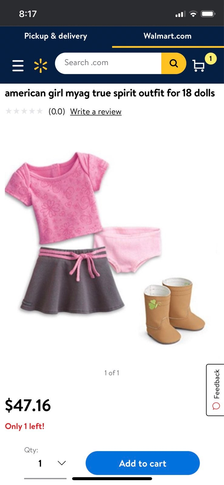 American girl true spirit outfit NEW in
