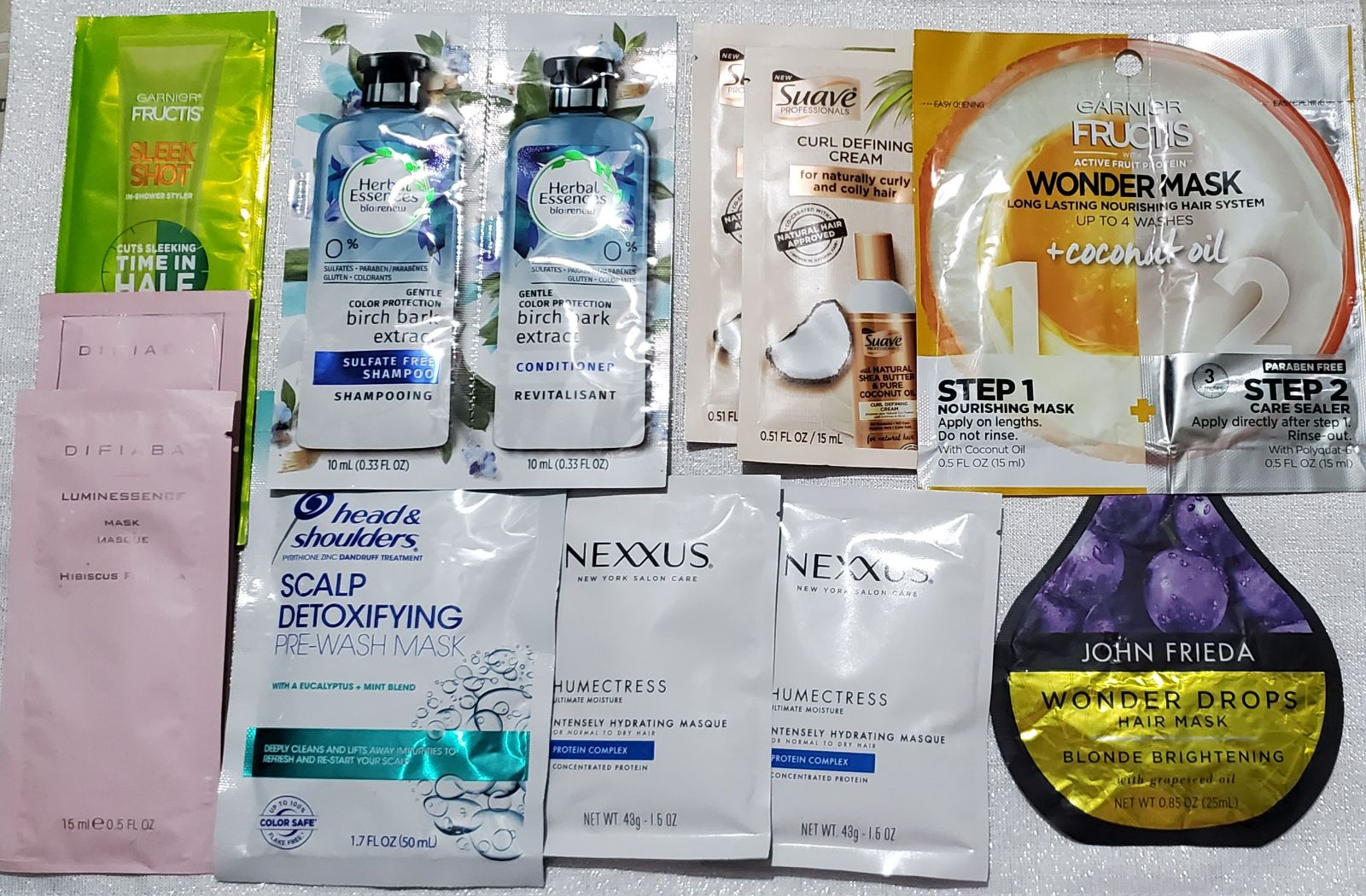 hair products samples