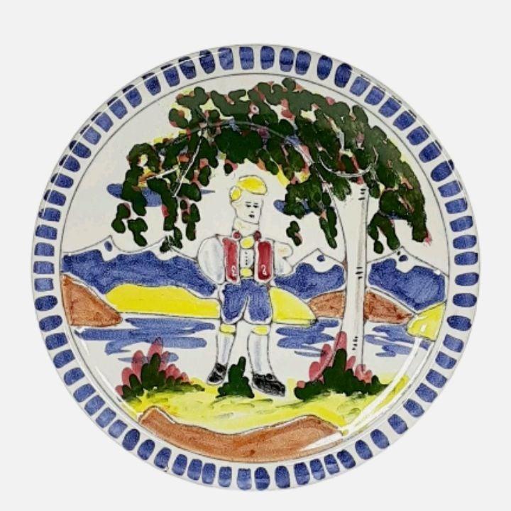 Terra Norway Folk Art Display Plate