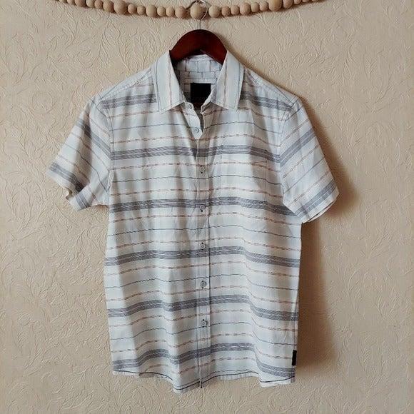 Prana Men's striped short sleeve shirt