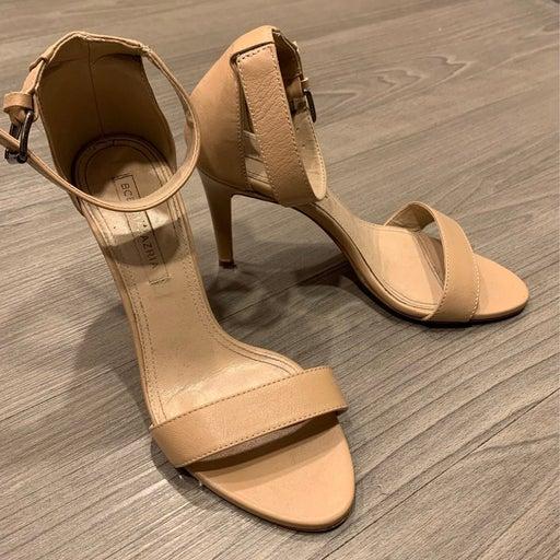 Bcbgmaxazria Nude Sandal Heels Size: 7.5