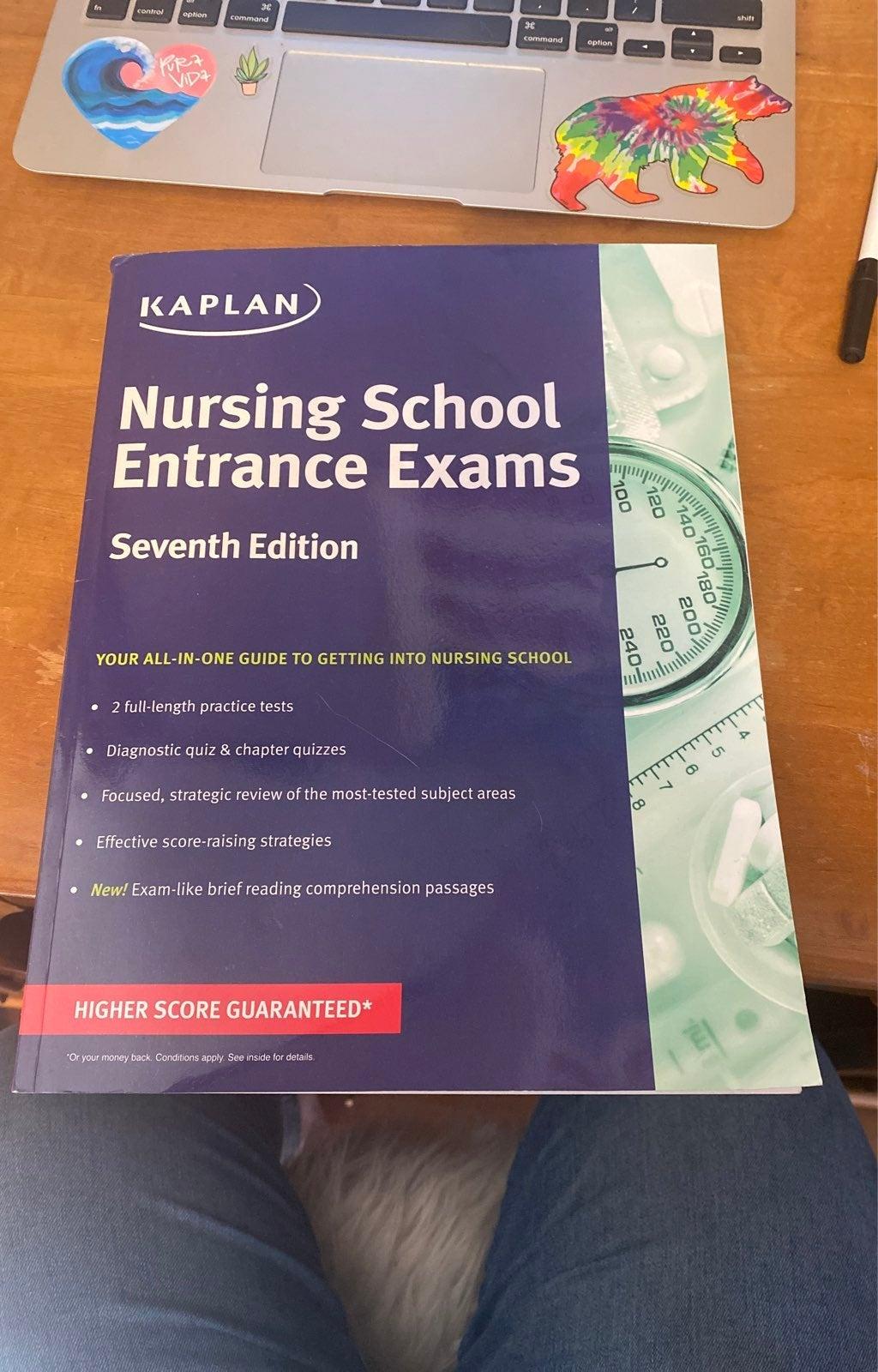 Kaplan Nursing School Entrance Exam book