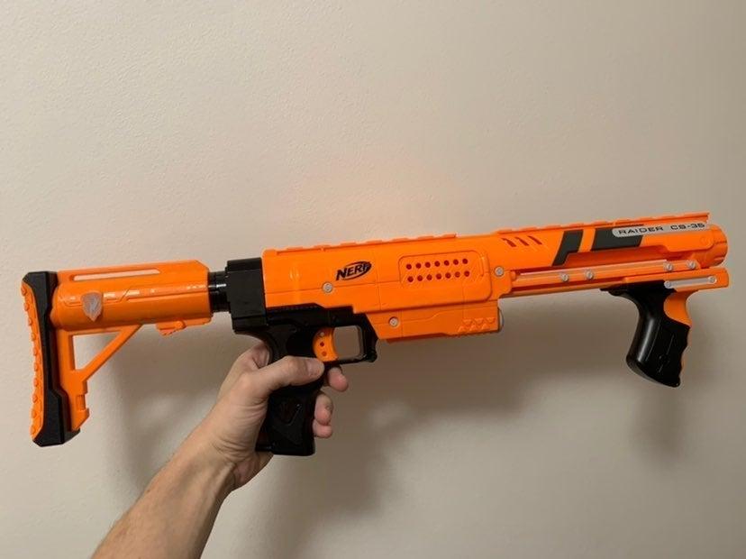 Nerf gear up raider!