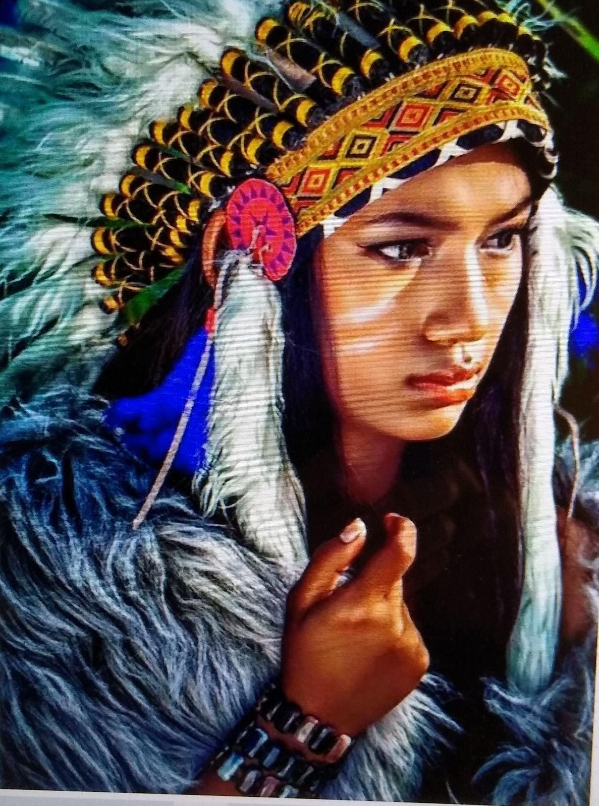 Indian Beauty Diamond Art