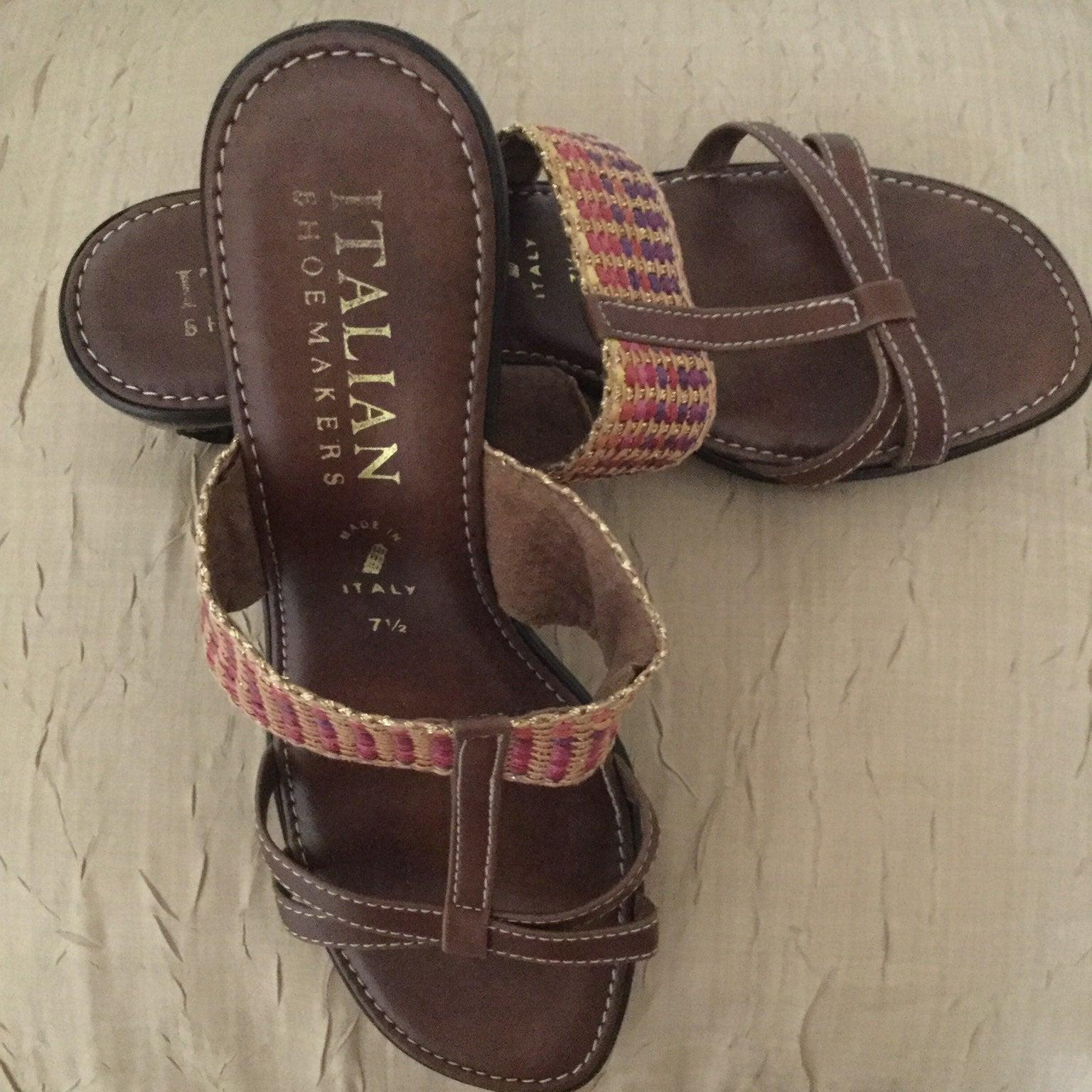 Italian Shoemaker Brown Sandals 7.5