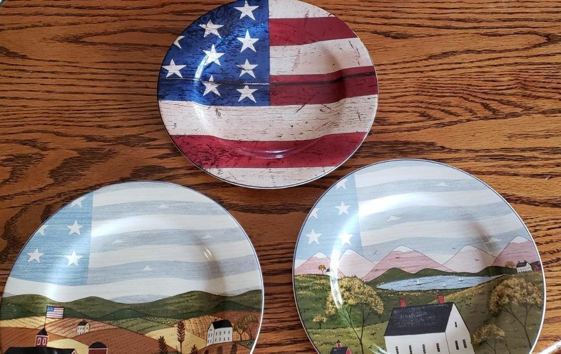 Warren Kimble Colonial, America Plates