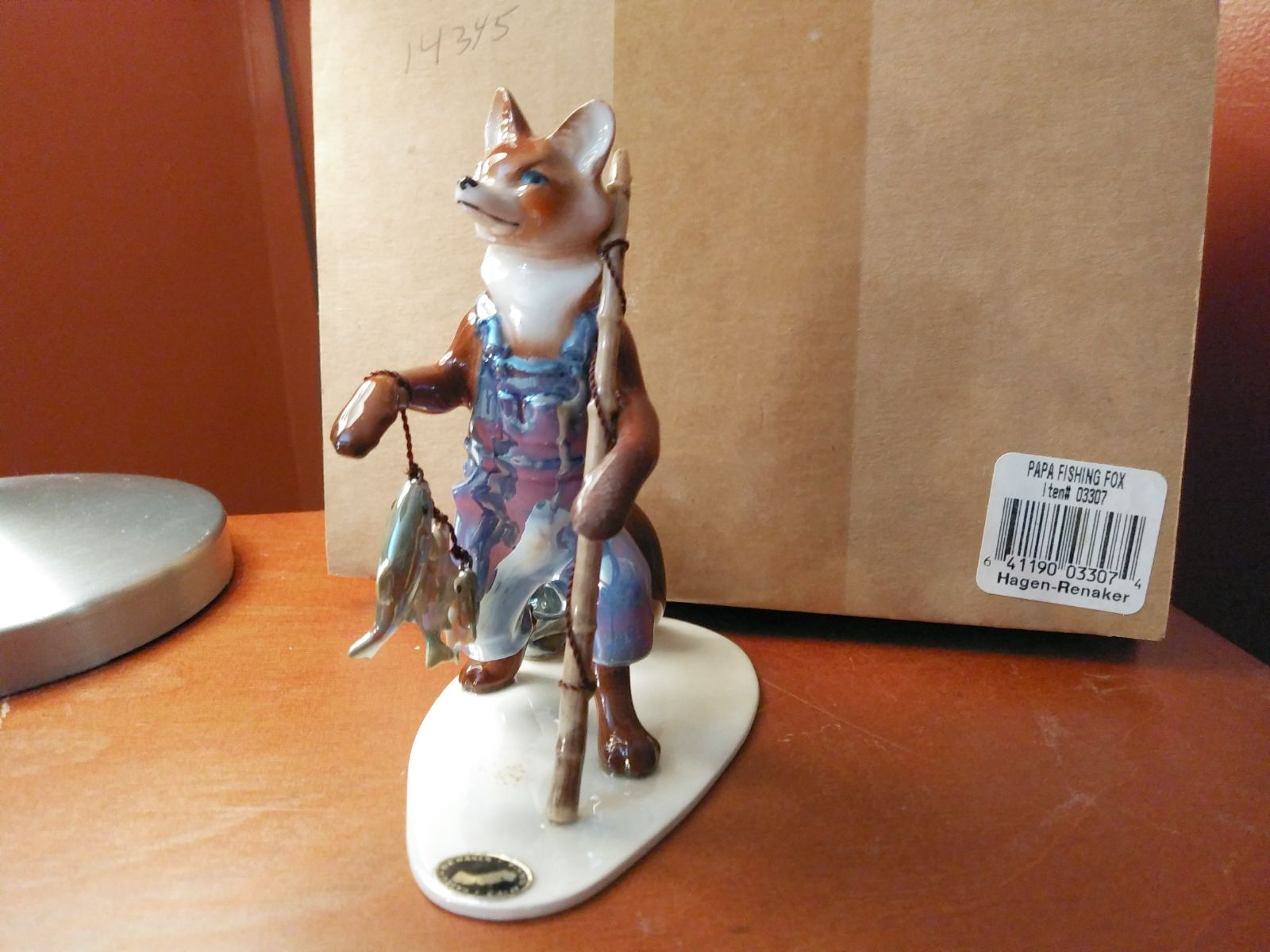 Retired Hagen-Renaker Papa Fishing Fox