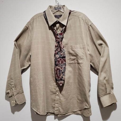 Crazy Horse Button Up Shirt Size 16 1/2