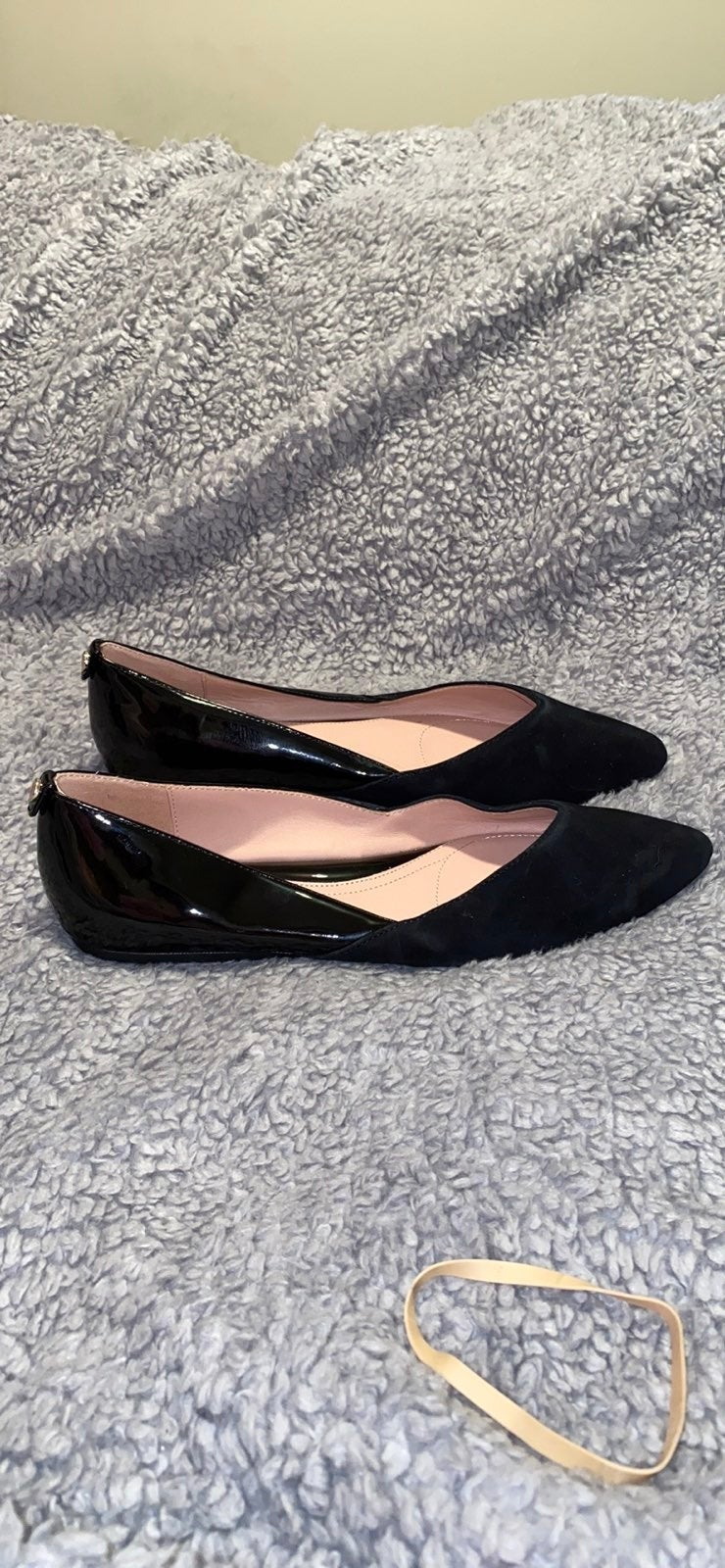 Taryn Rose Suede & Leather Flats 7.5