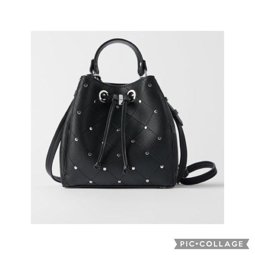 SOLD !! NWT Zara mini bucket bag with st