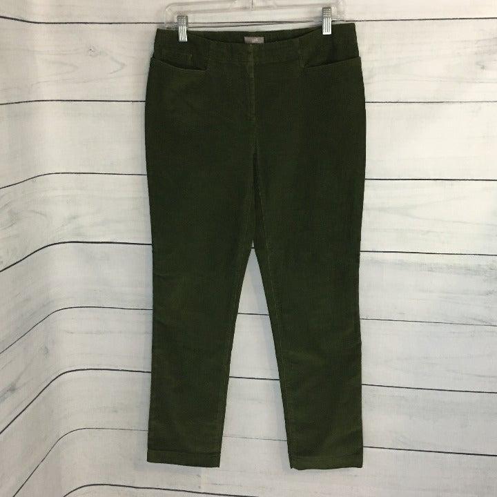 J. Jill 6P Green Straight Leg Corduroys