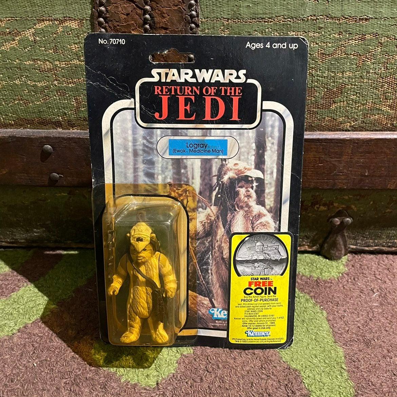 Star Wars Vintage arme 3 PC Logray Ewok Cowl//personnel//Sac loose figures KENNER