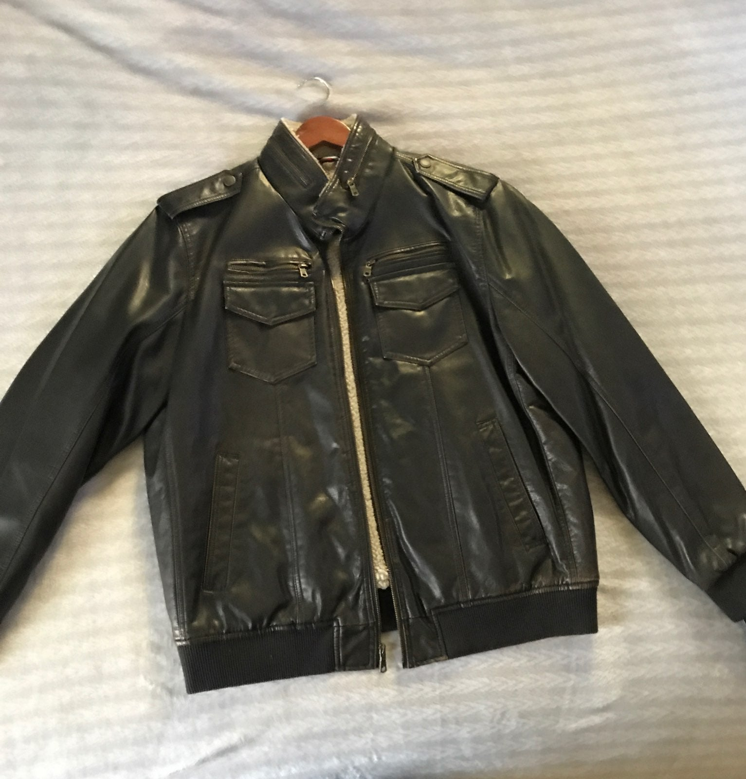 Mens Tommy Hilfiger Leather Sz XL