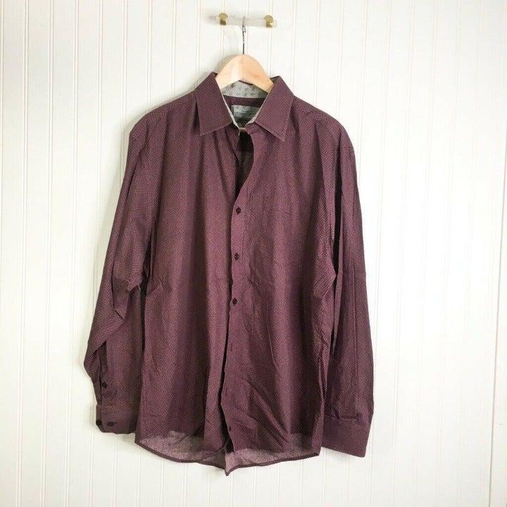 Johnston & Murphy Mens Button Front Shir