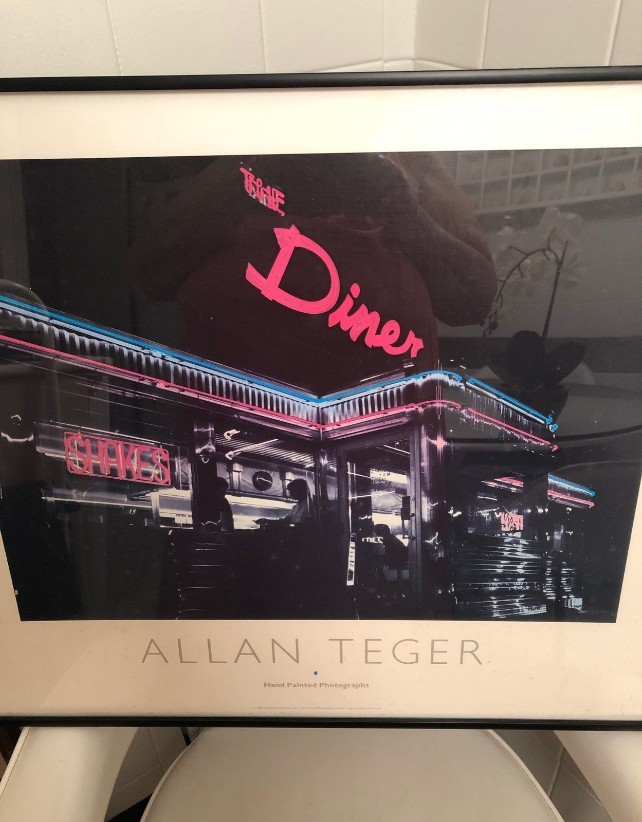 DINER by Allan Teger handpainted photo