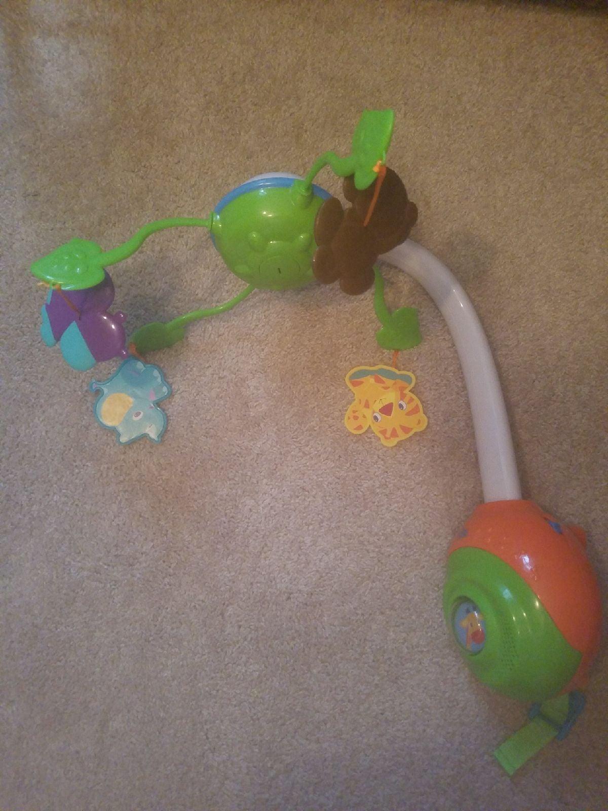 Baby crib animal mobile