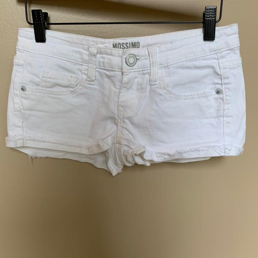women's / juniors white denim shorts