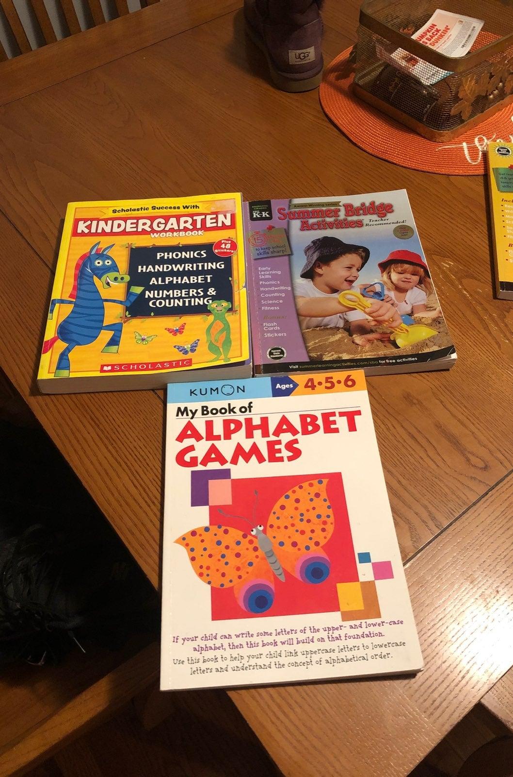 Kindergarten work books