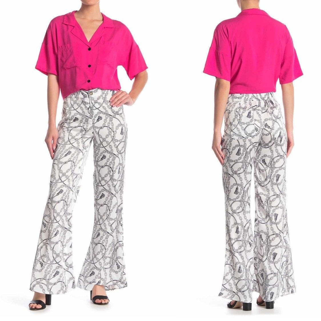 Love + Harmony White Chain Trousers S