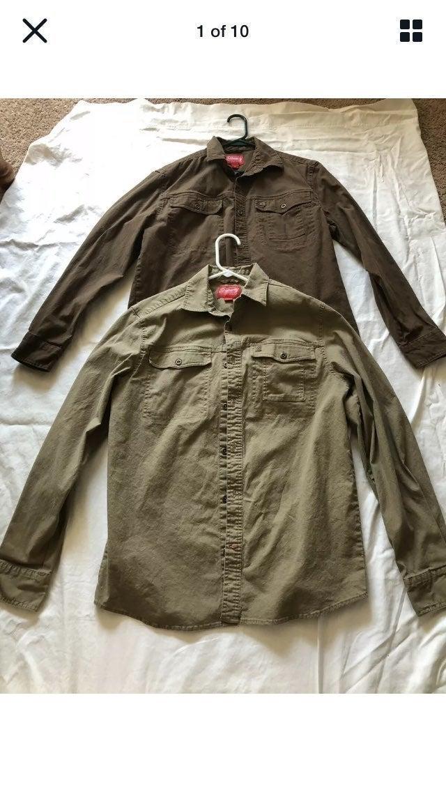 2 GUC Coleman Outdoor LS  Button Shirts