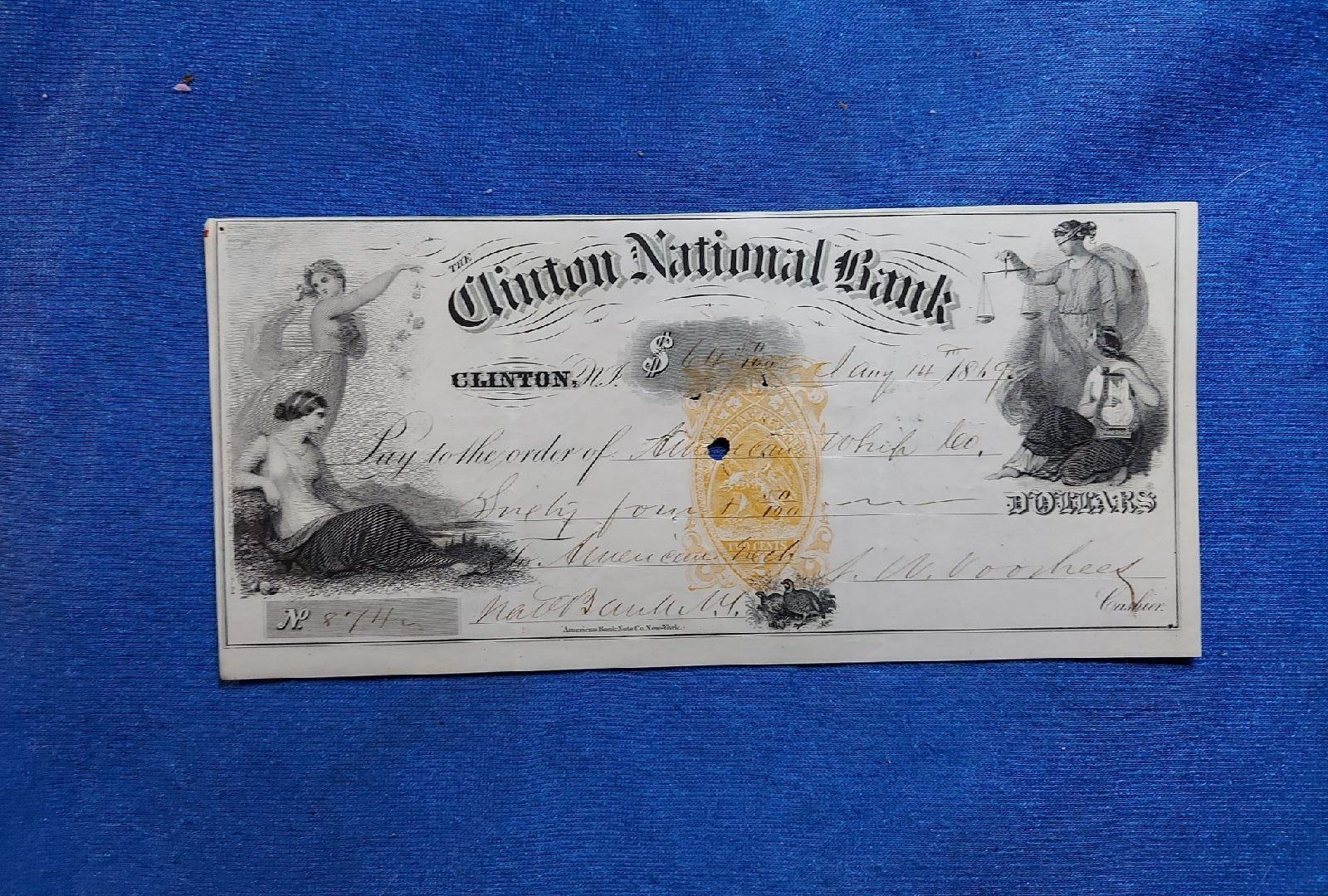 RARE Paper money, $10currency 1869