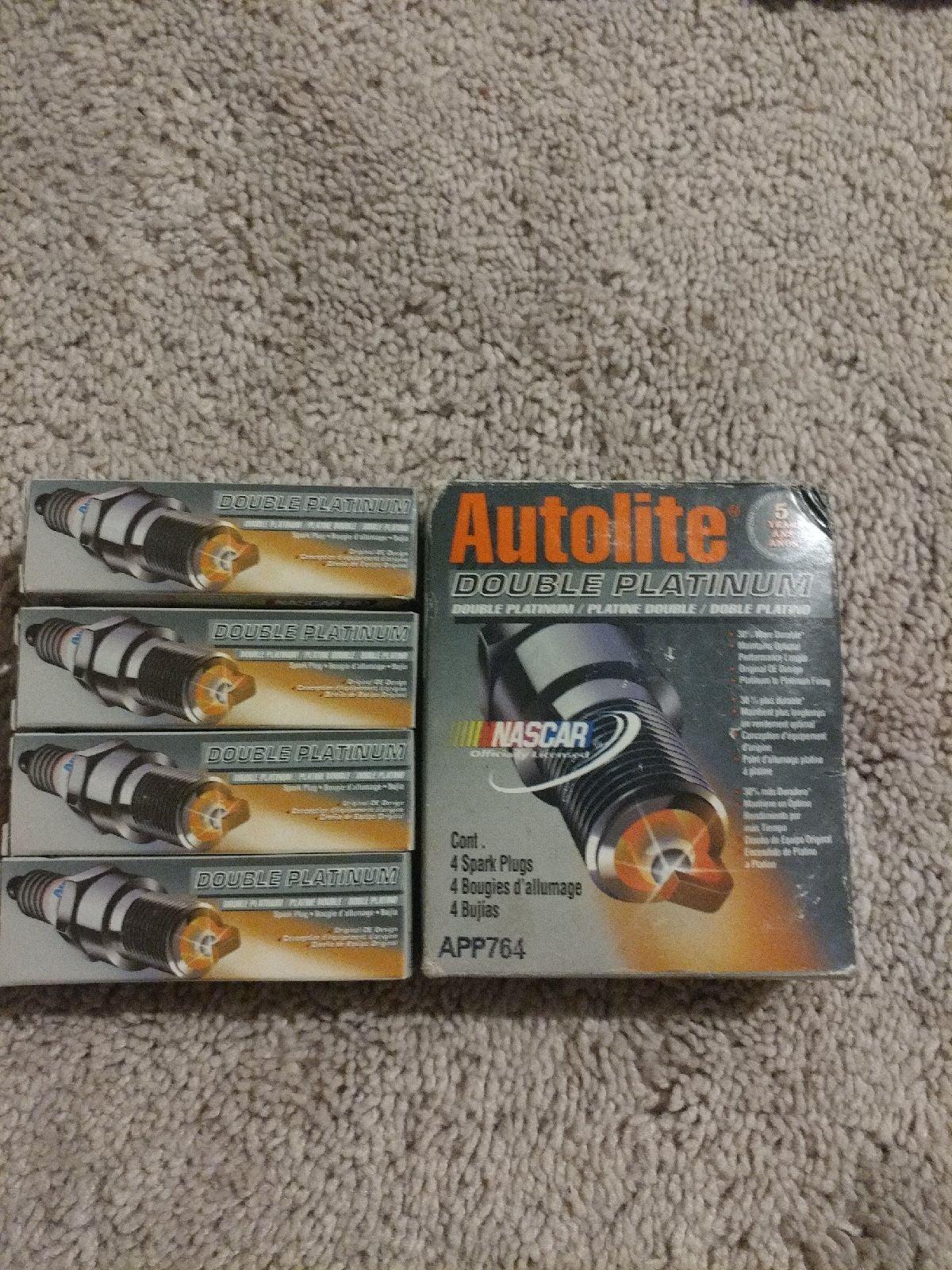 Autolite Double Platinum Spark Plugs X4