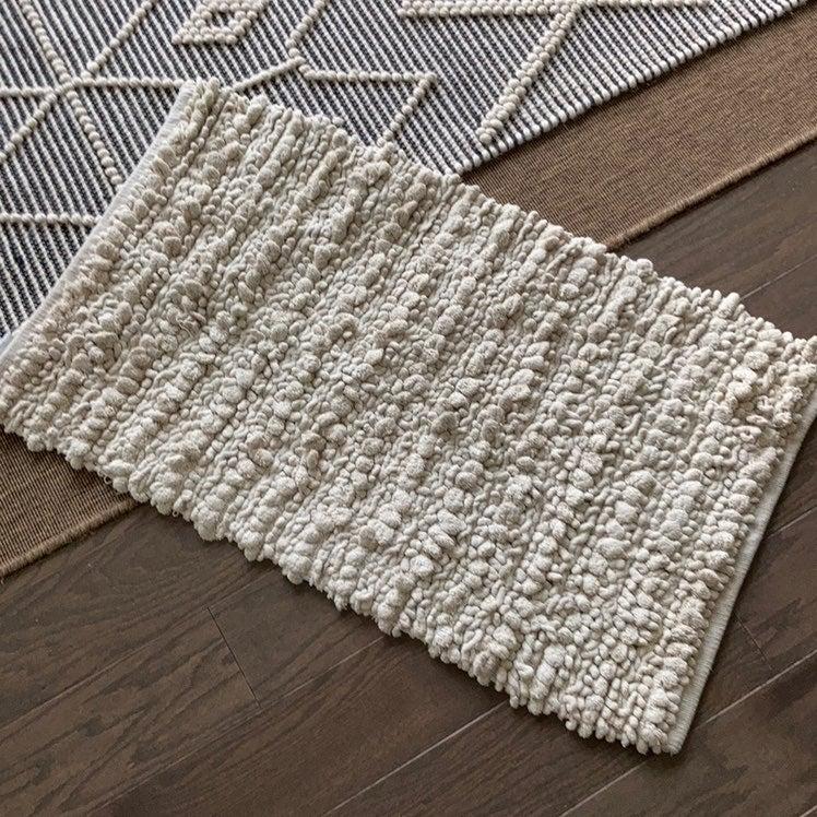 Threshold ivory cotton boho small rug