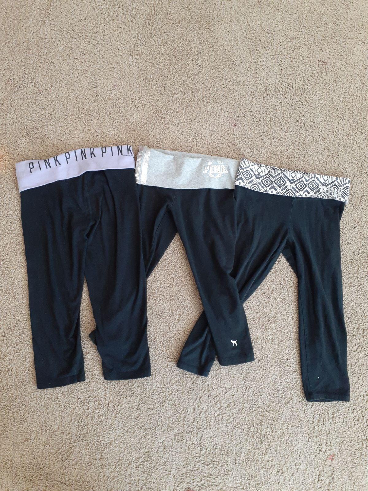 3 Pair Victoria Secret Crop Leggings XS