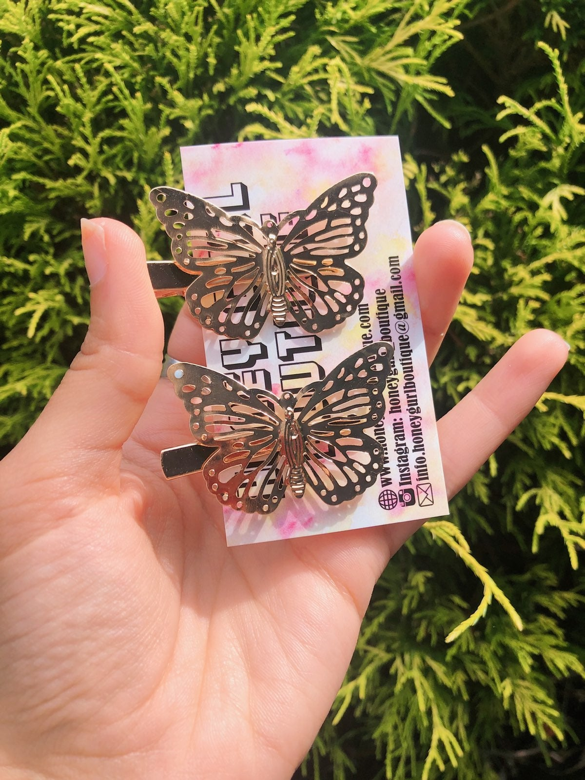 butterfly hair clips 2 pieces