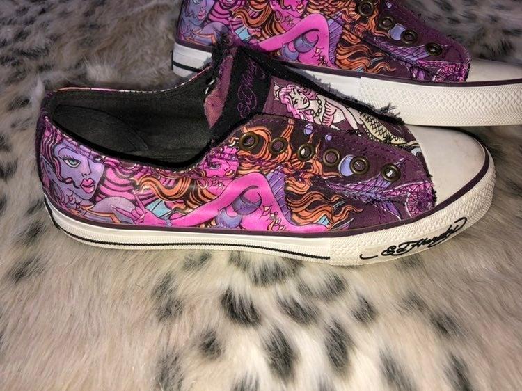 Womans Ed Hardy Slip On Sneakers