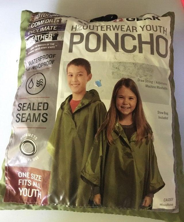 Youth Swiss Gear Poncho