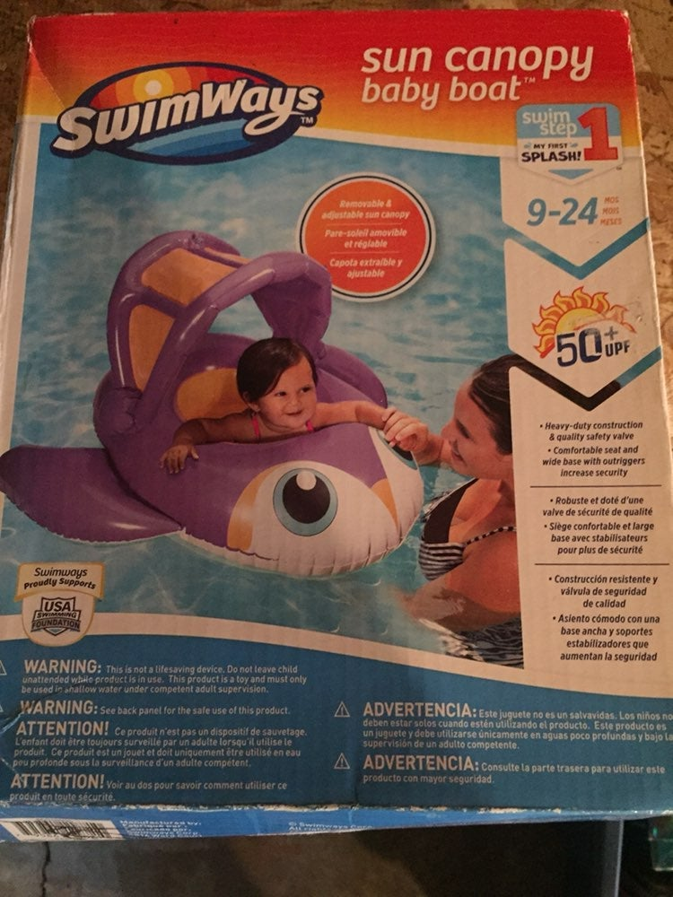 Sun Canopy Baby Boat inflatable pool flo